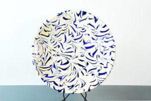 Piatto Bianco E Blu Limited